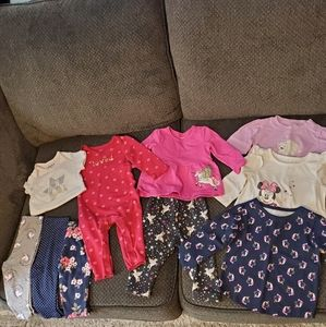Lot of 10 baby girl clothes